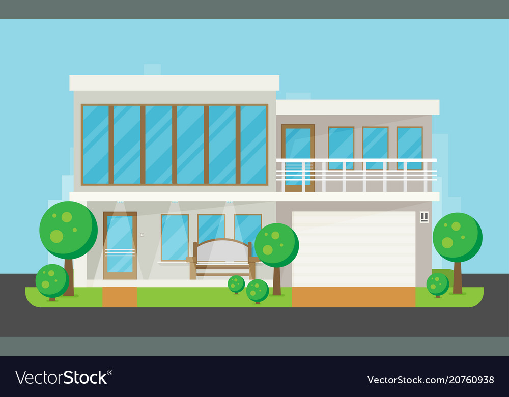 Flat residential house