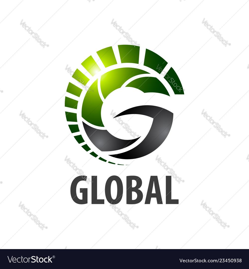 Global initial letter g logo concept design