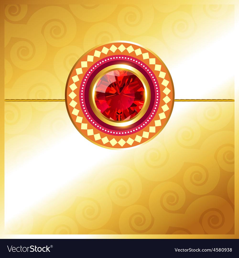 Golden rakhi design