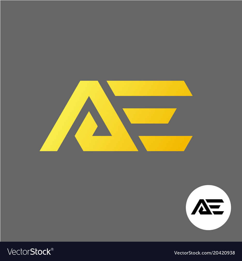 Letter a and e logo ae ligature symbol