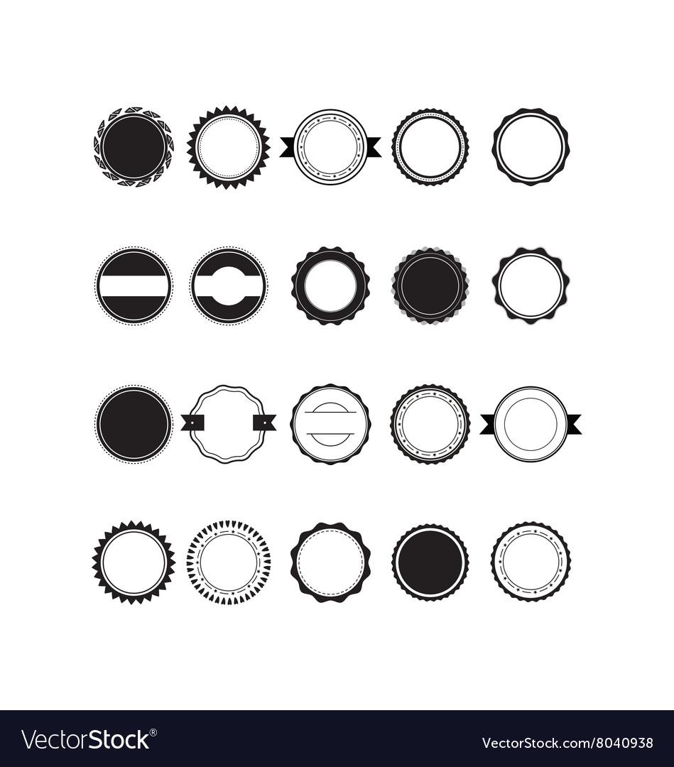 Retro vintage circle vector image