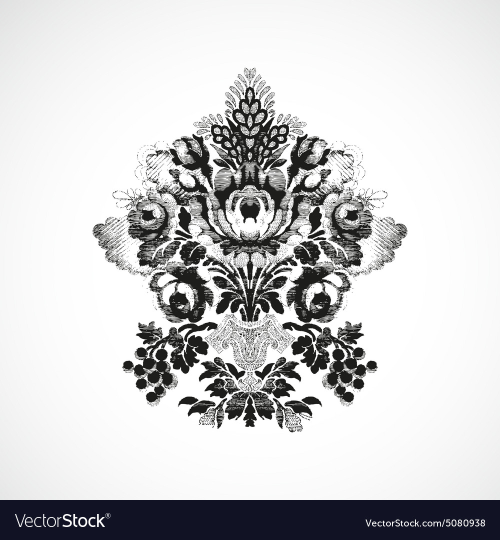 Richly decorated with a bouquet of flowers vector image