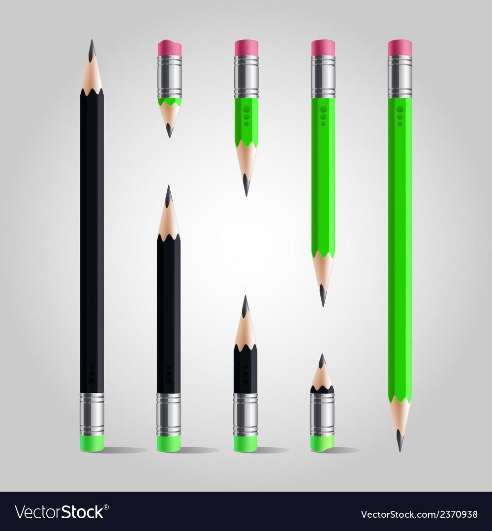 Short and long pencil set