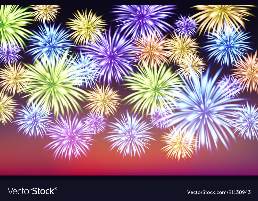 Abstract colored firework background with free