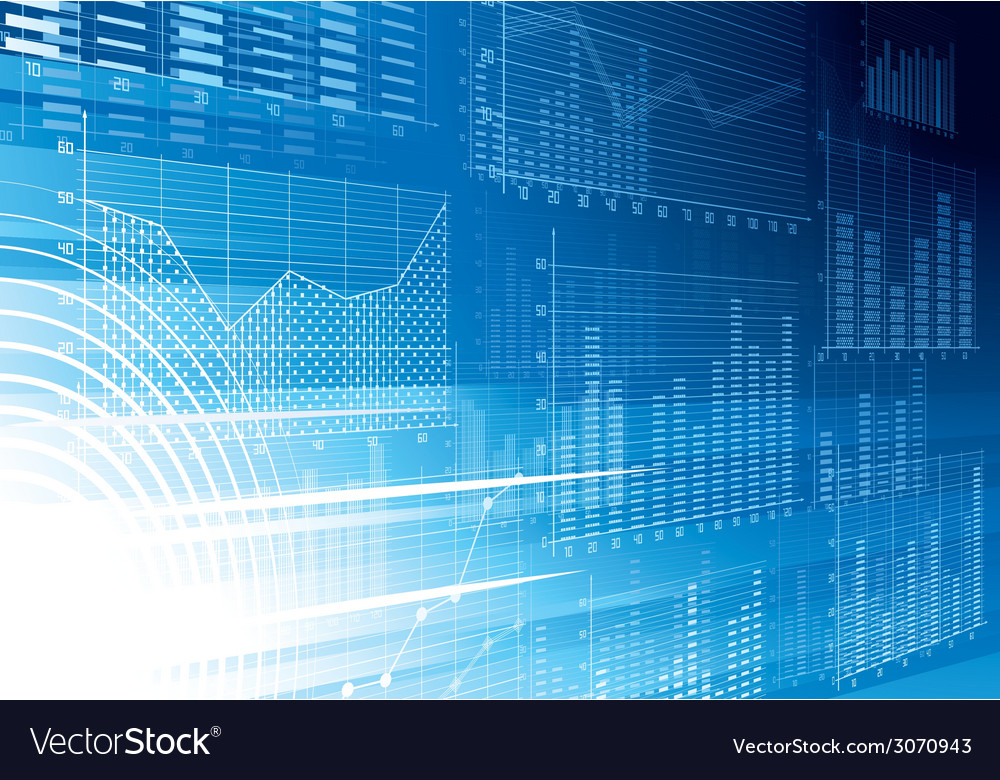 Abstract financial background vector image