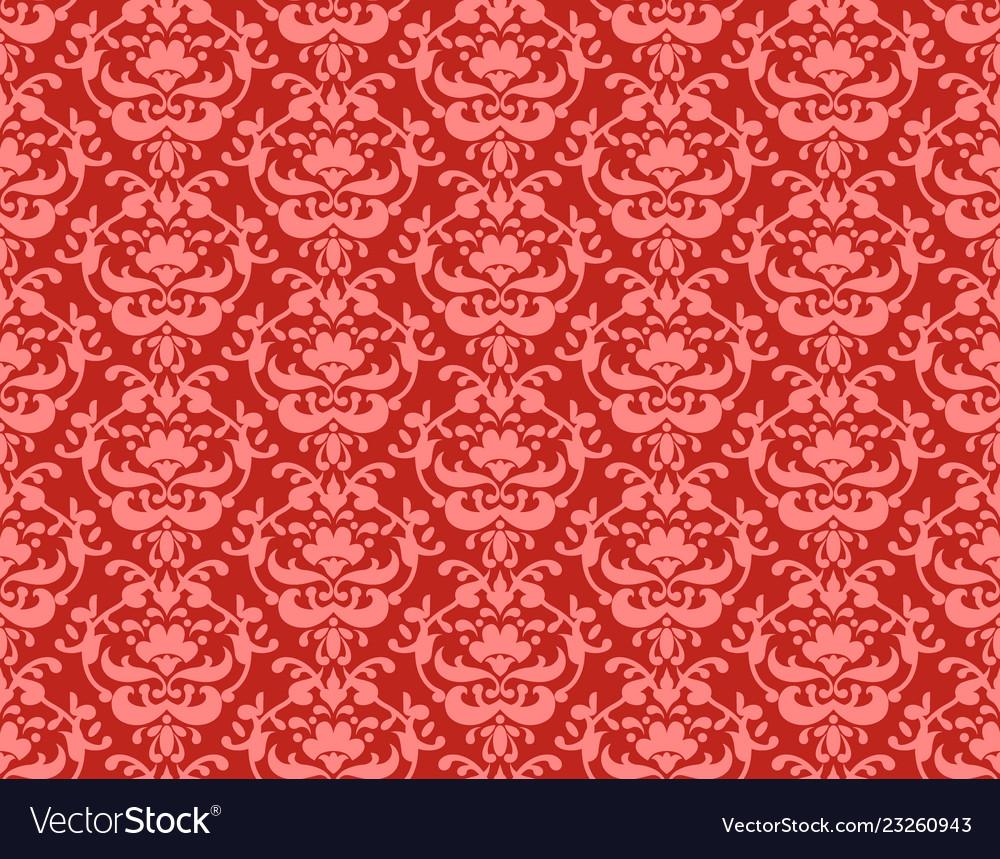 Coral color damask