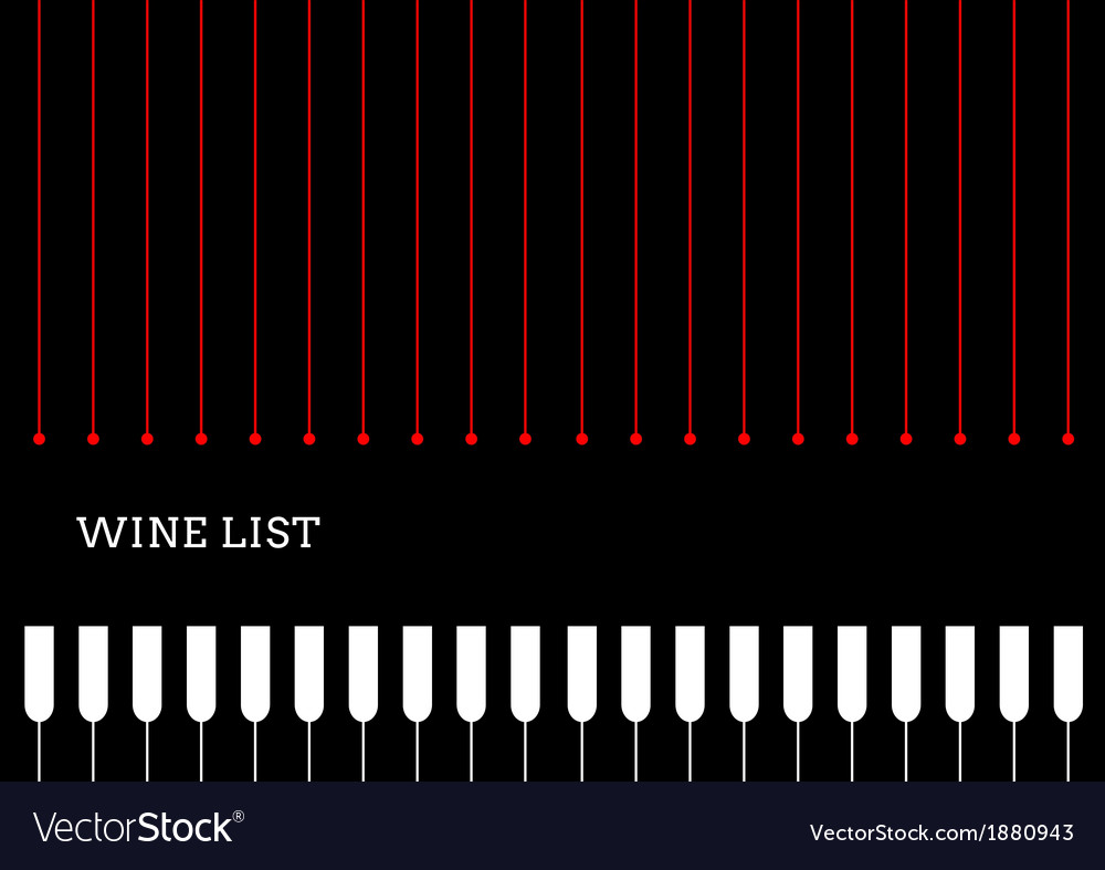 Design a wine list with wineglasses