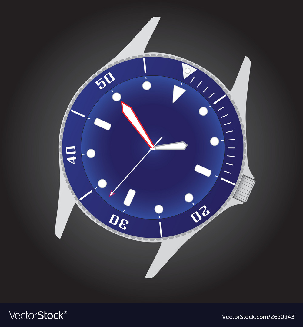 Diver watch case and dial eps10