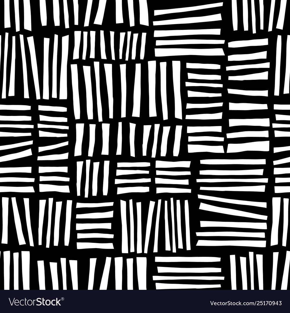 Monochrome hand drawn blocks seamless