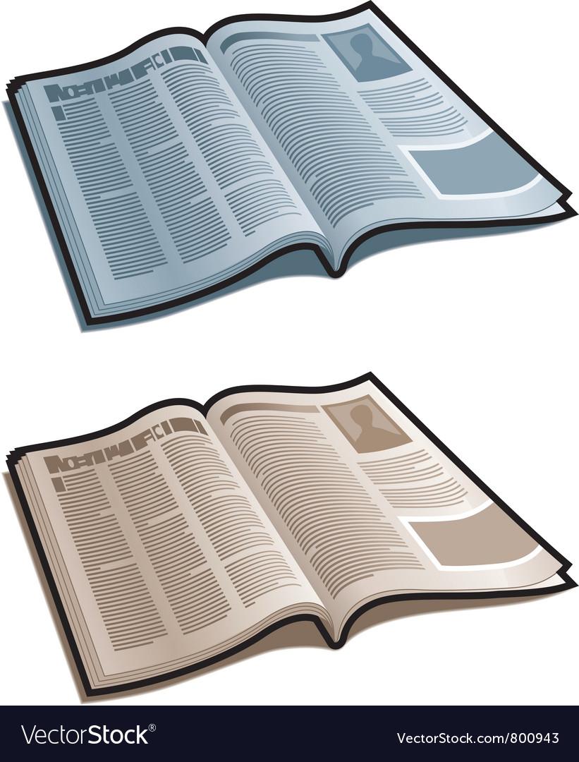 Open magazine vector art - Download Open vectors - 800943