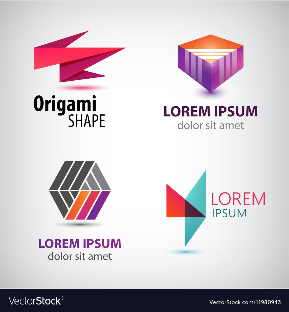 Set of abstract colorful logos company