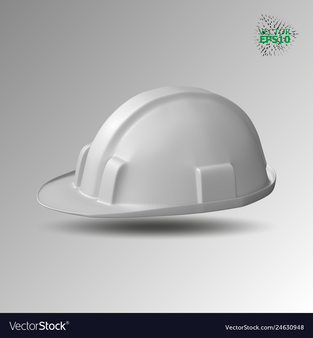 A plastic helmet is a building white color vector image