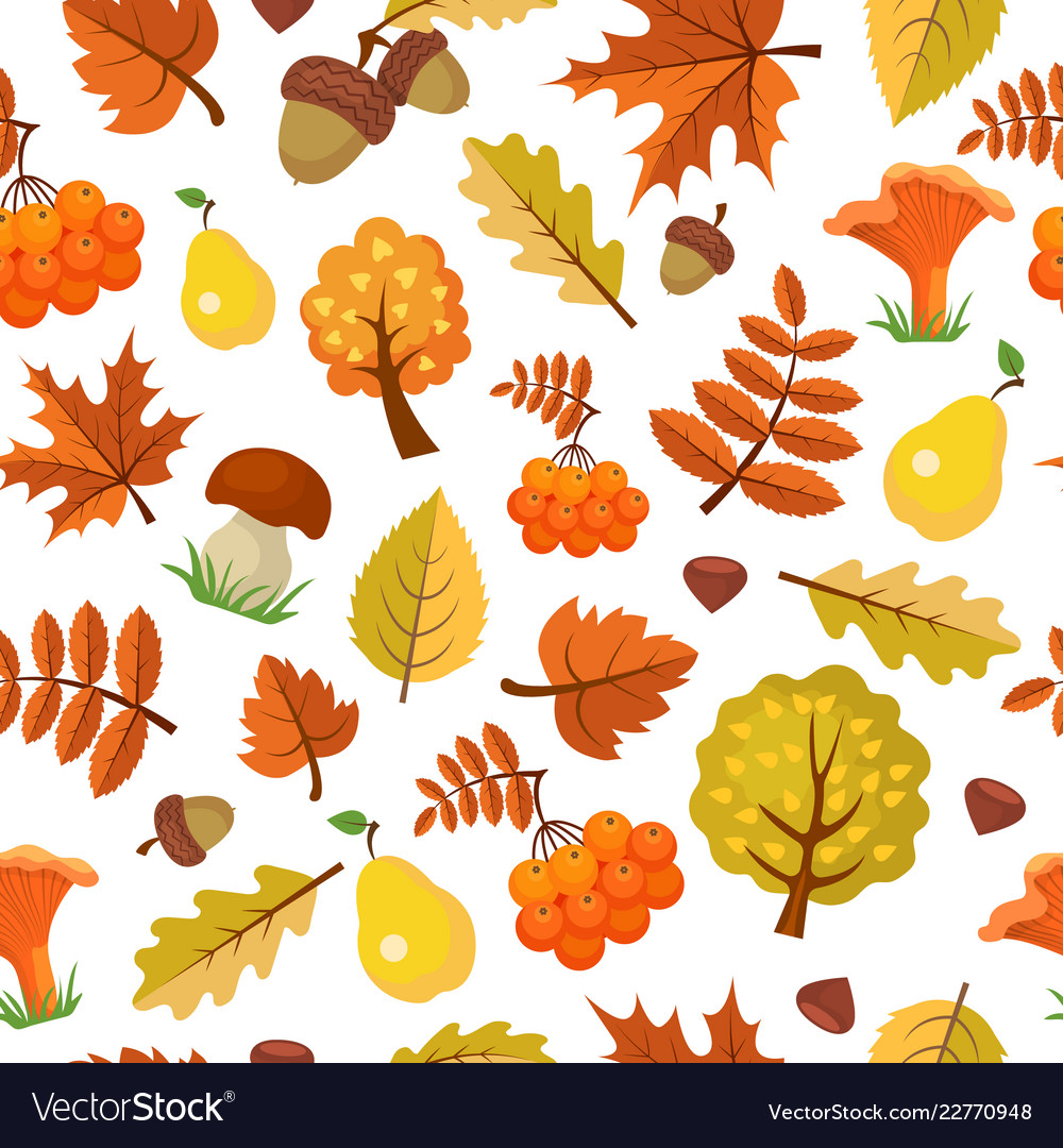 Autumn leaves pattern forest yellow fall