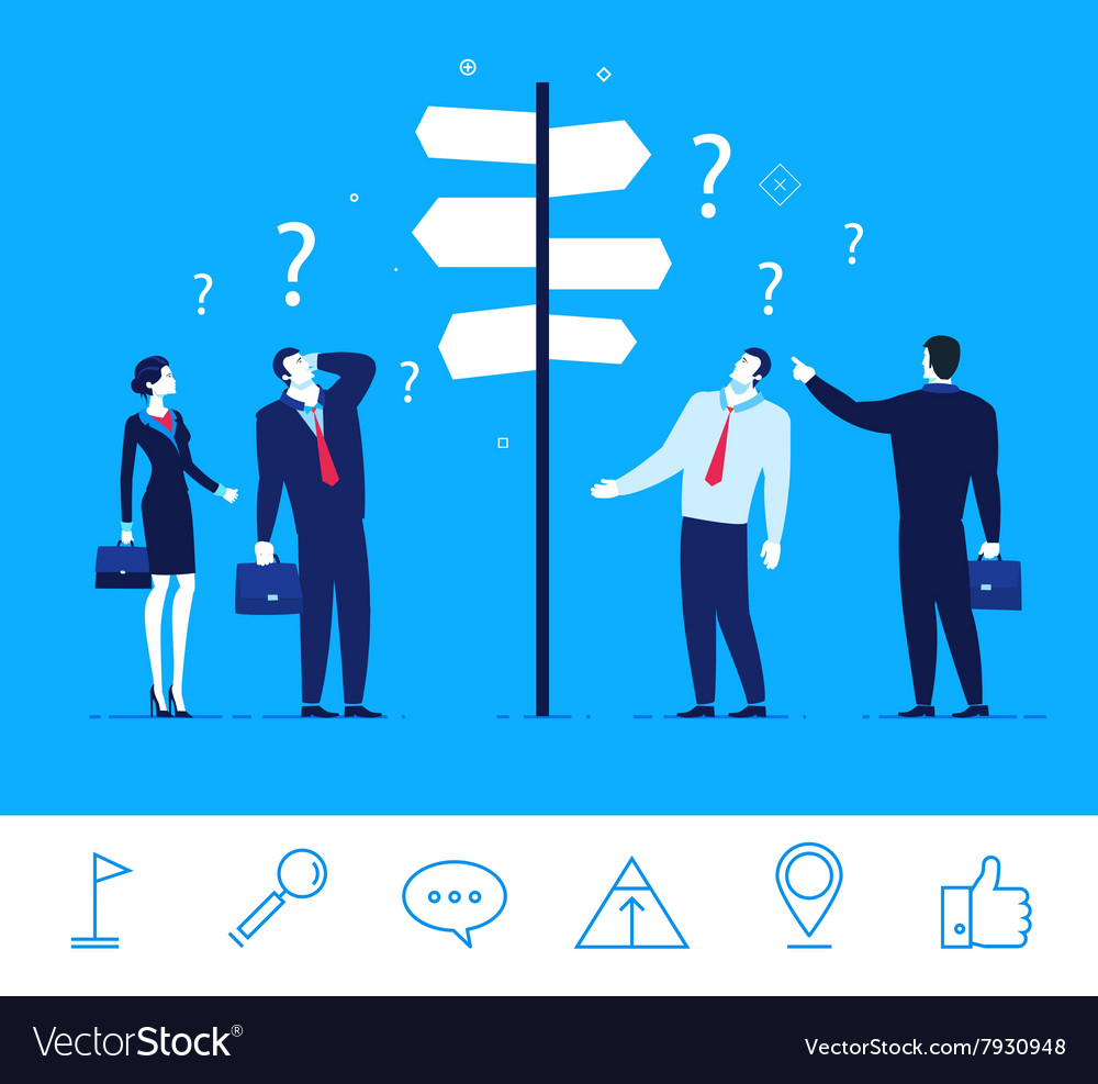 Business concept Businessmen vector image