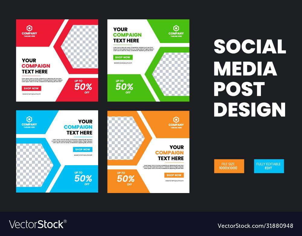 Creative And Modern Fashion Social Media Post Vector Image