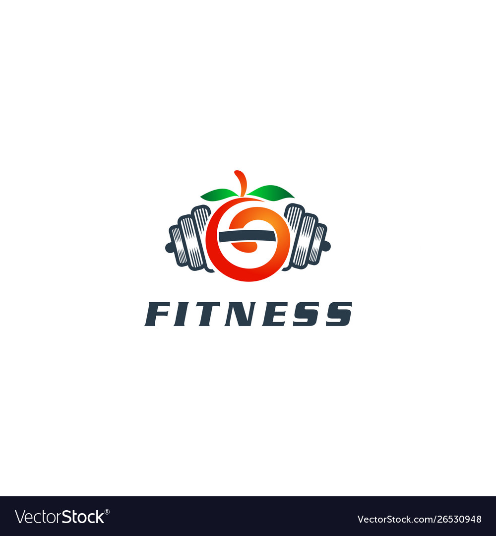 Fitness logo design template