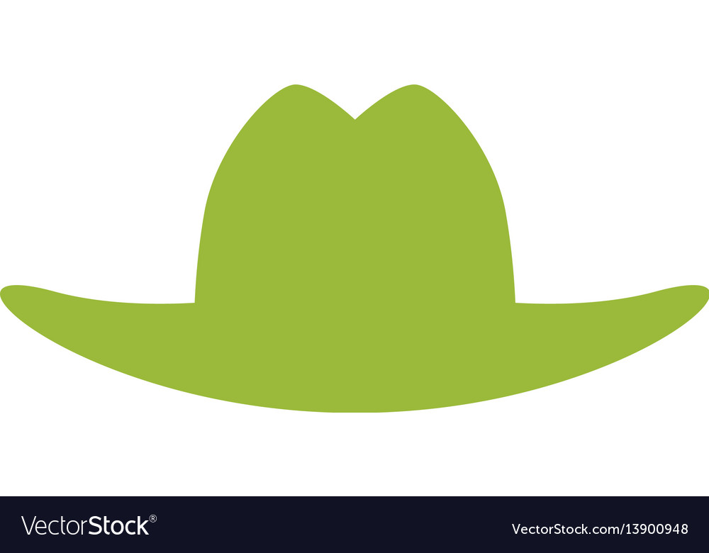 Gardening hat silhouette Royalty Free Vector Image