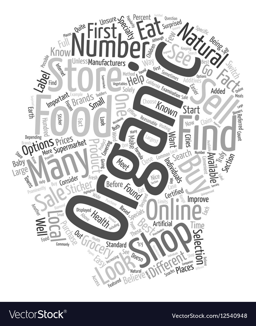 How to Buy Organic Foods text background wordcloud