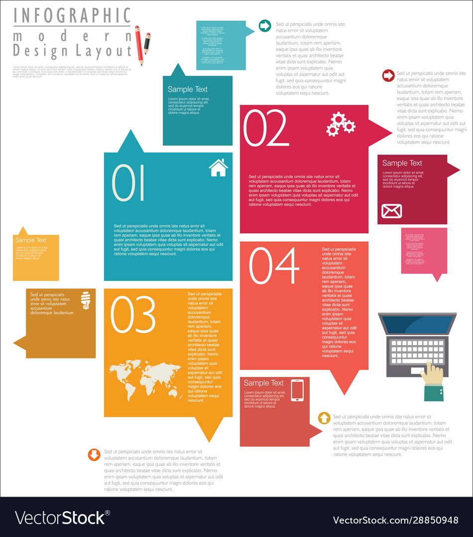 Infographic modern design template 6