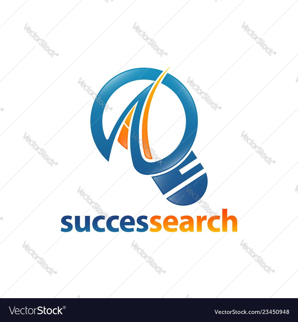 Magnifier icon succes search logo concept design