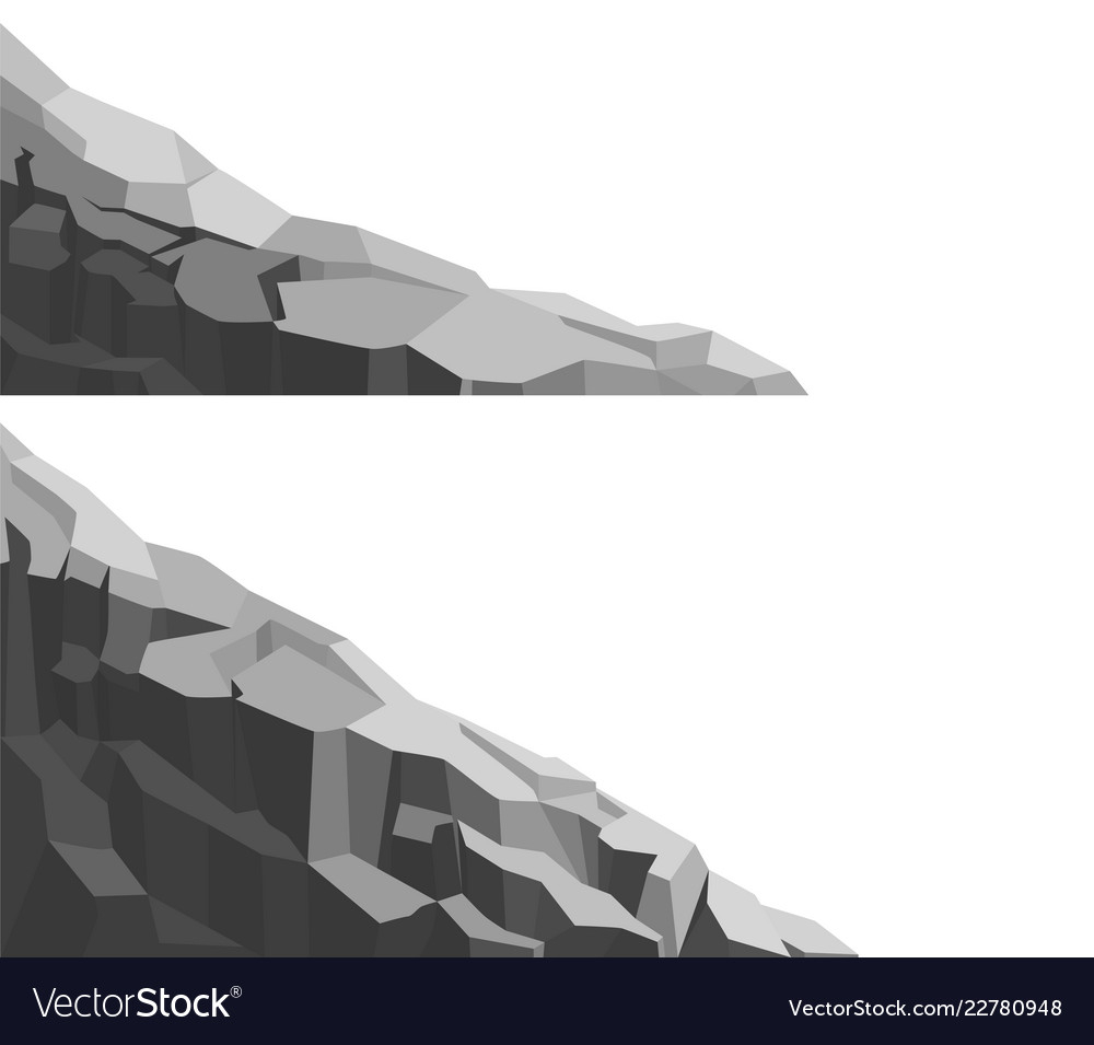 Mountain of large rock and stone