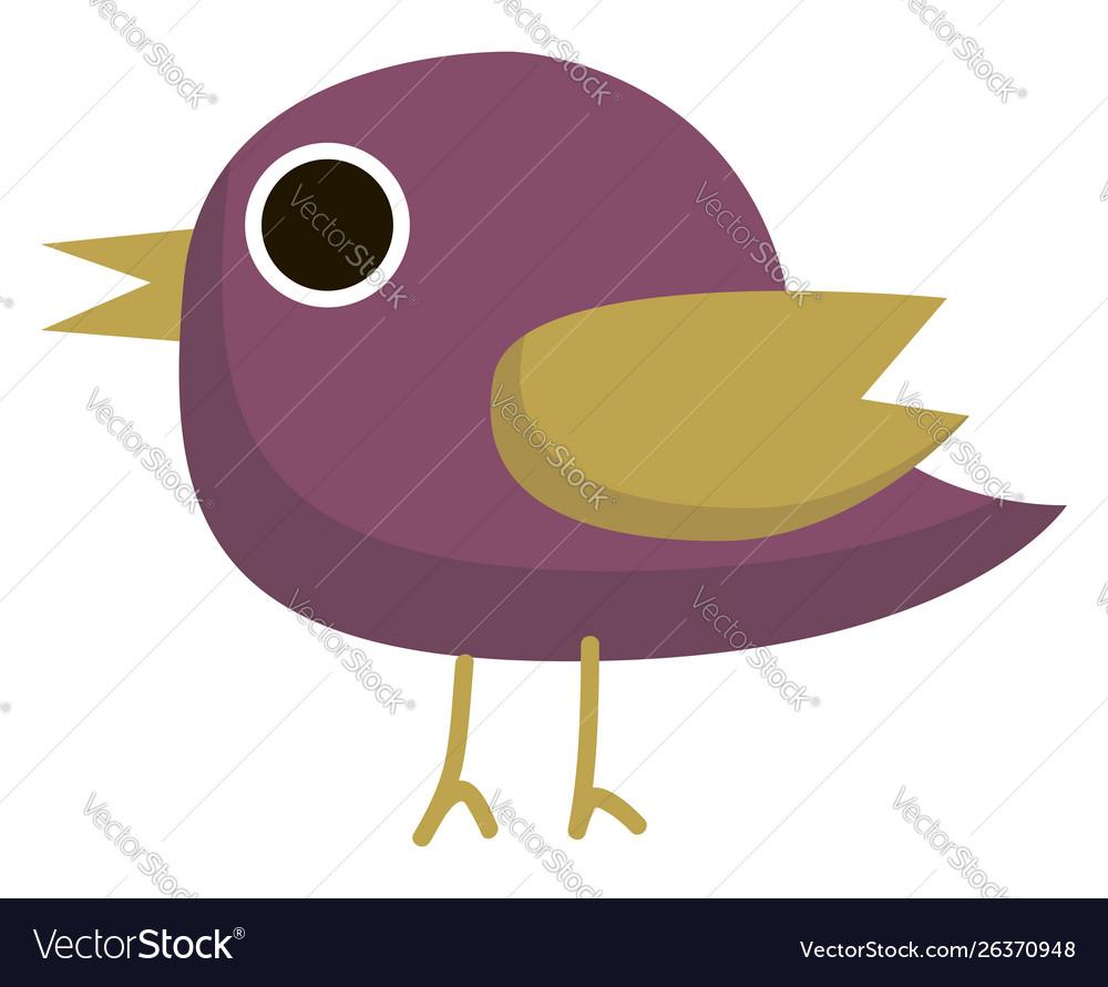 Purple bird on white background