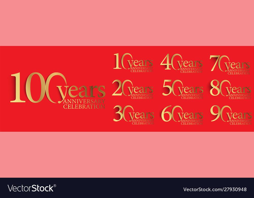Set anniversary logotype style