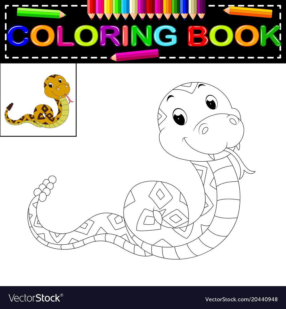 snake coloring book vector