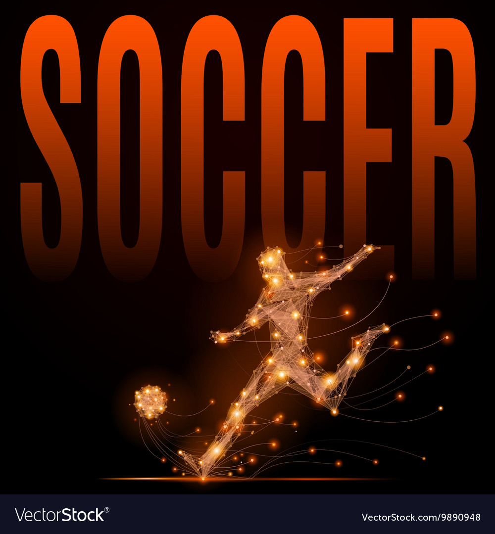 Soccer player polygonal