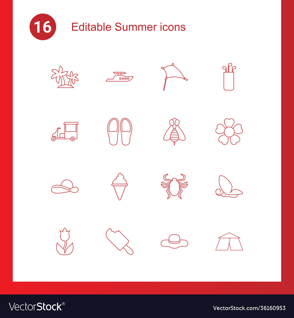 16 summer icons