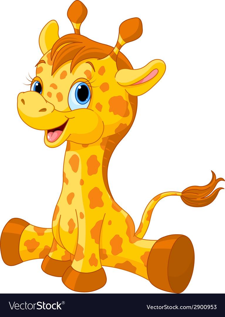 Cute giraffe calf