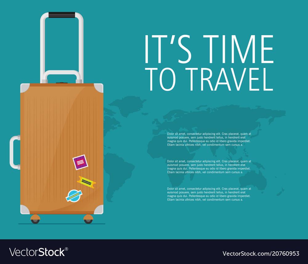 Flat travel design concept background eps10