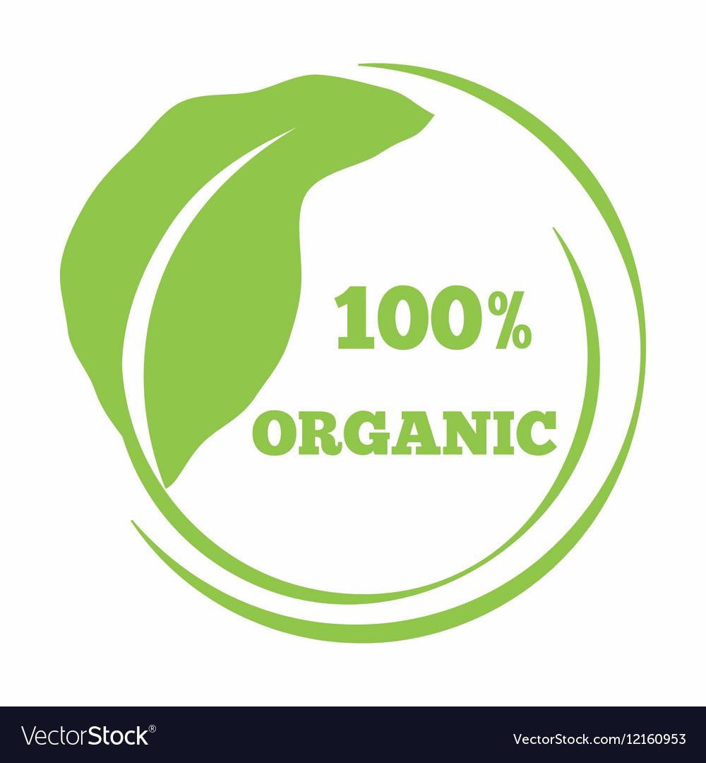 Leaf shaped logo eco friendly emblem