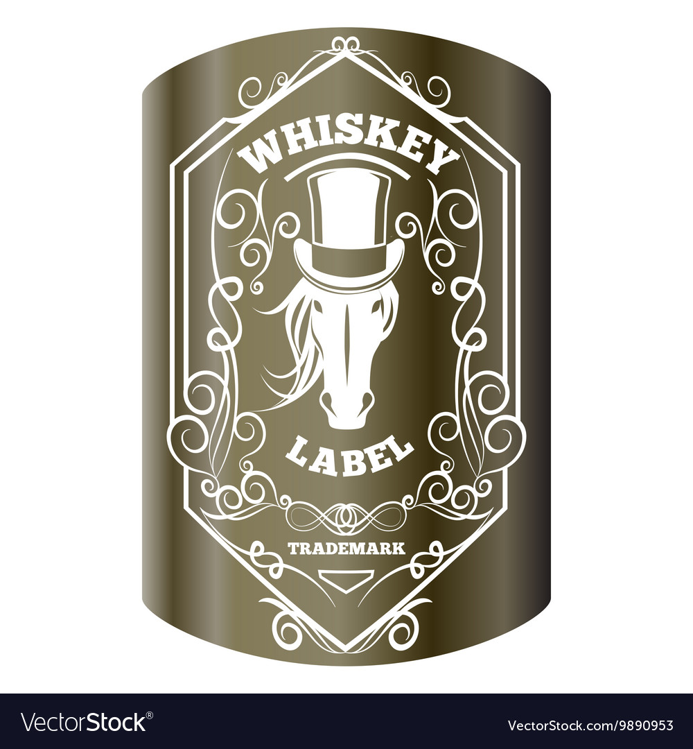 Whiskey label and elements
