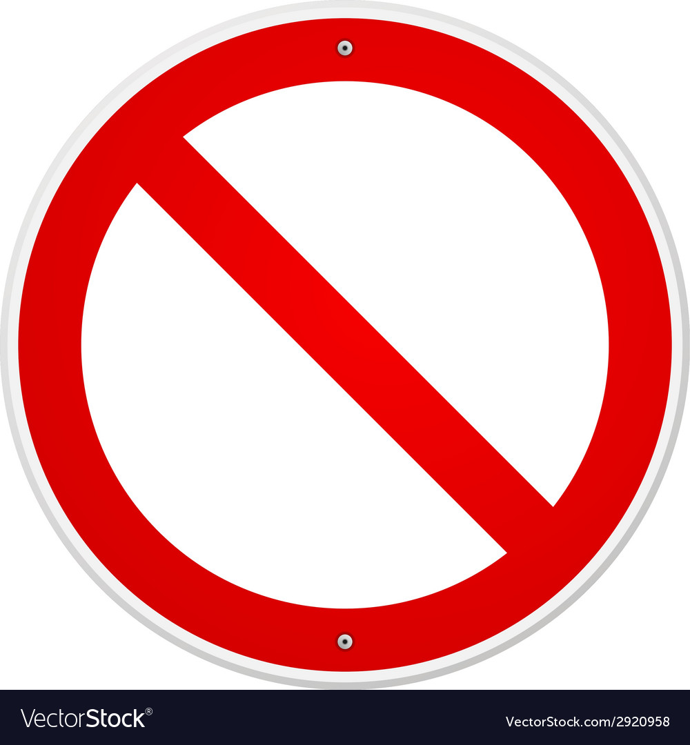 Blank forbidden sign