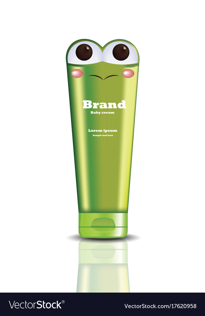 Cream cosmetic bottle realistic mock up vector image