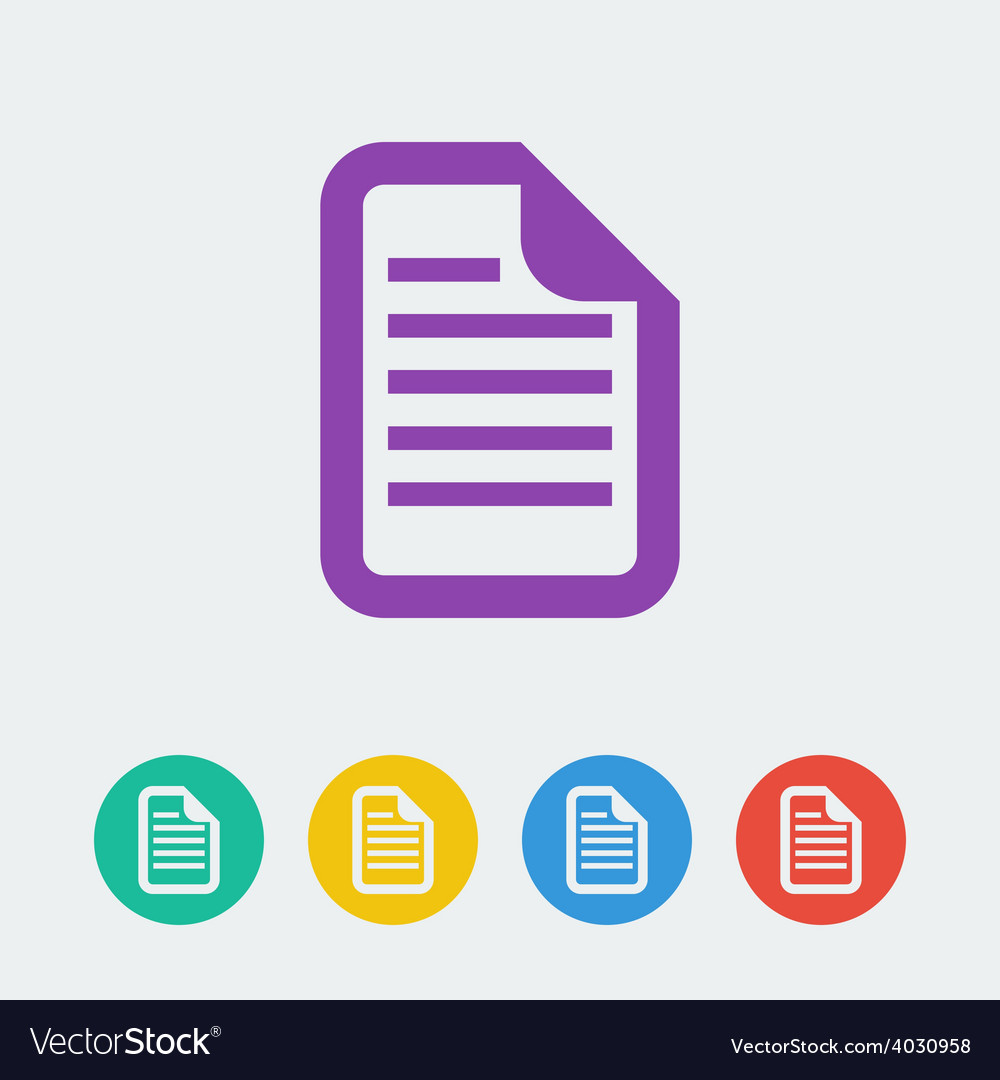 Document flat circle icon