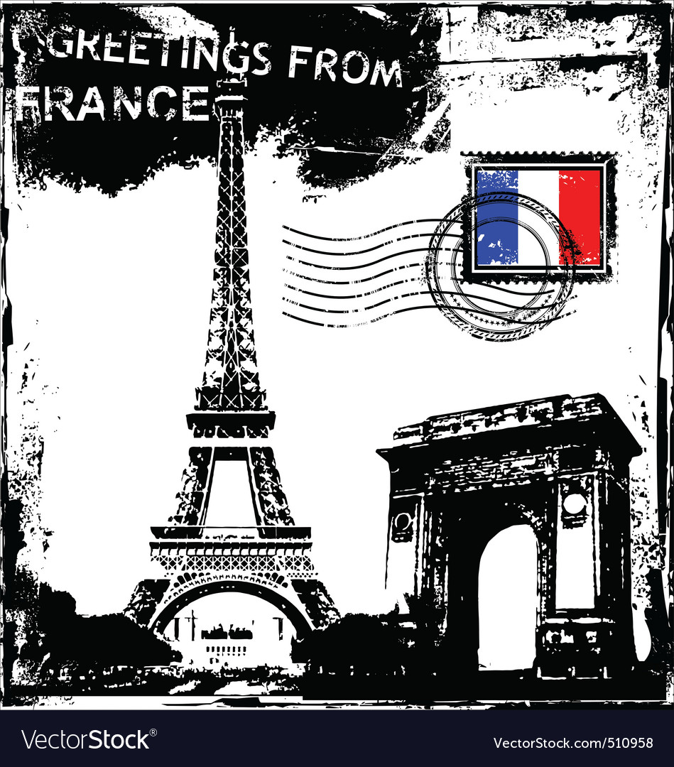 Greetings from france royalty free vector image greetings from france vector image m4hsunfo