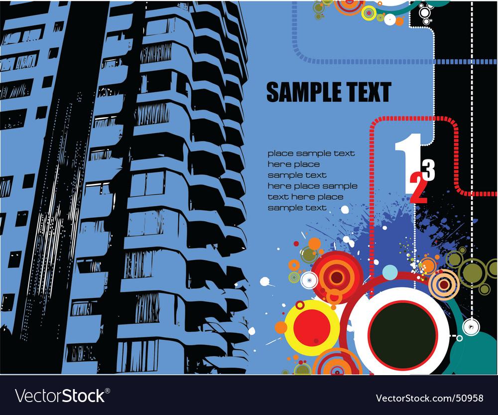 Grunge building vector image