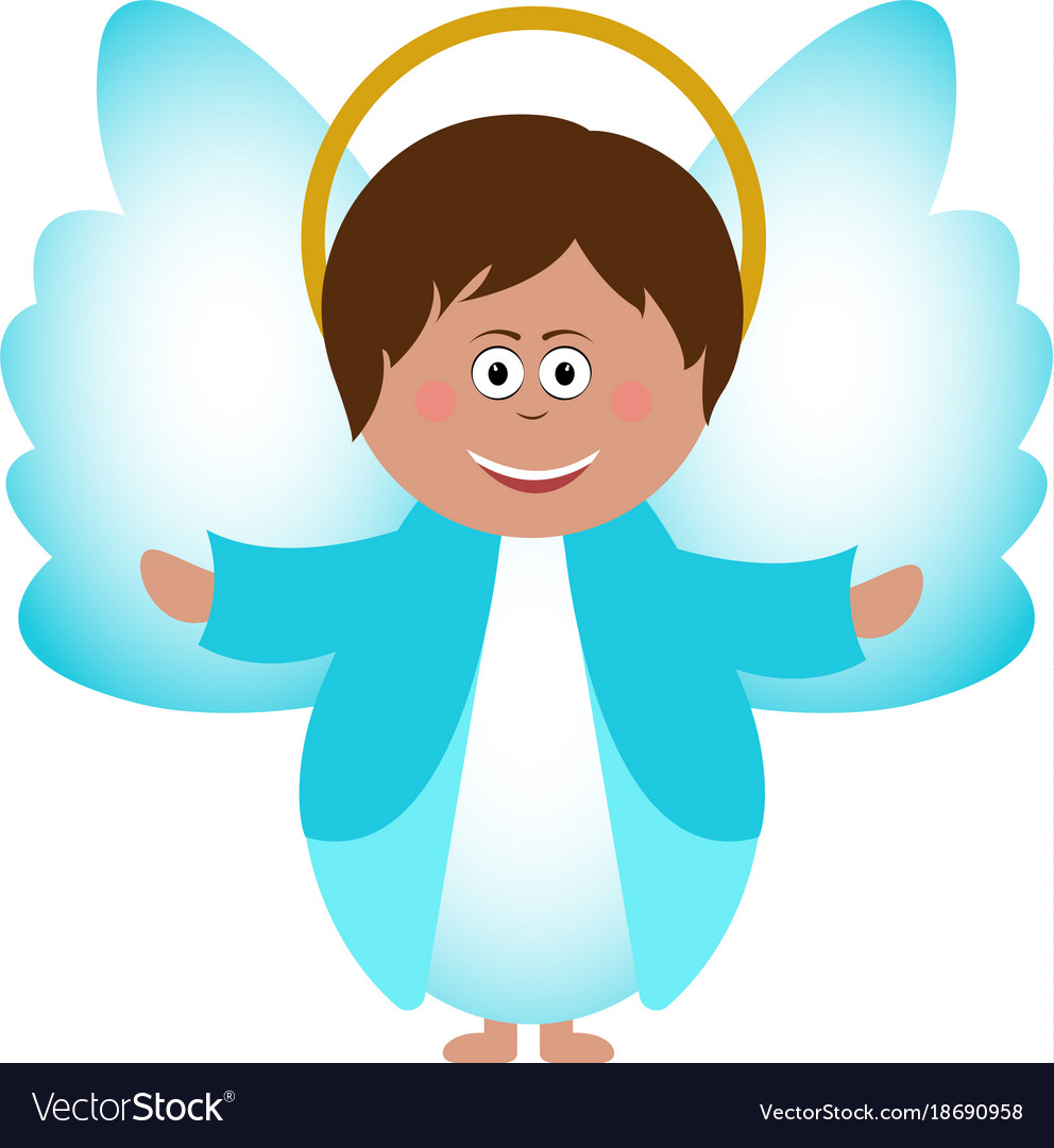 Isolated angel icon vector image