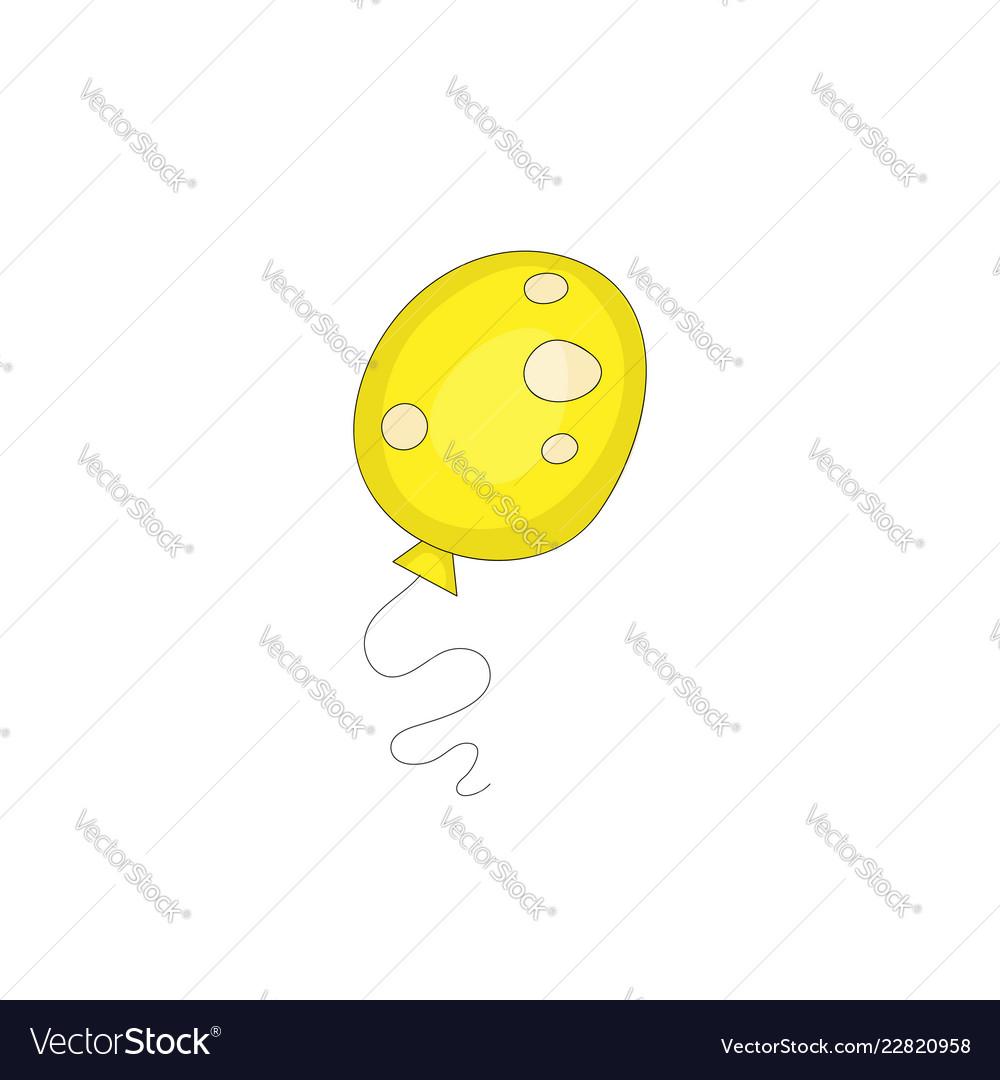 Yellow balloon funny cartoon icon isolated