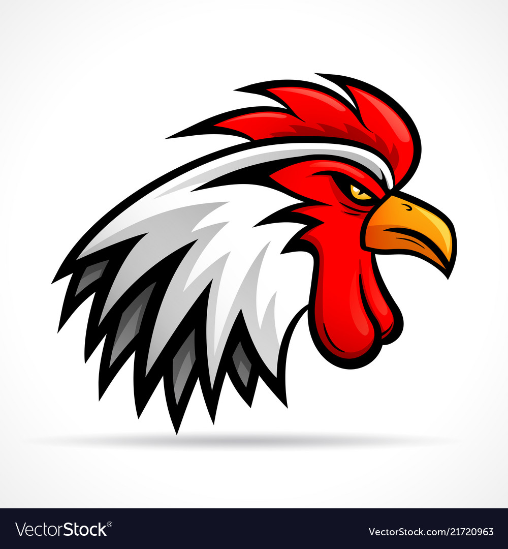 Angry rooster head design