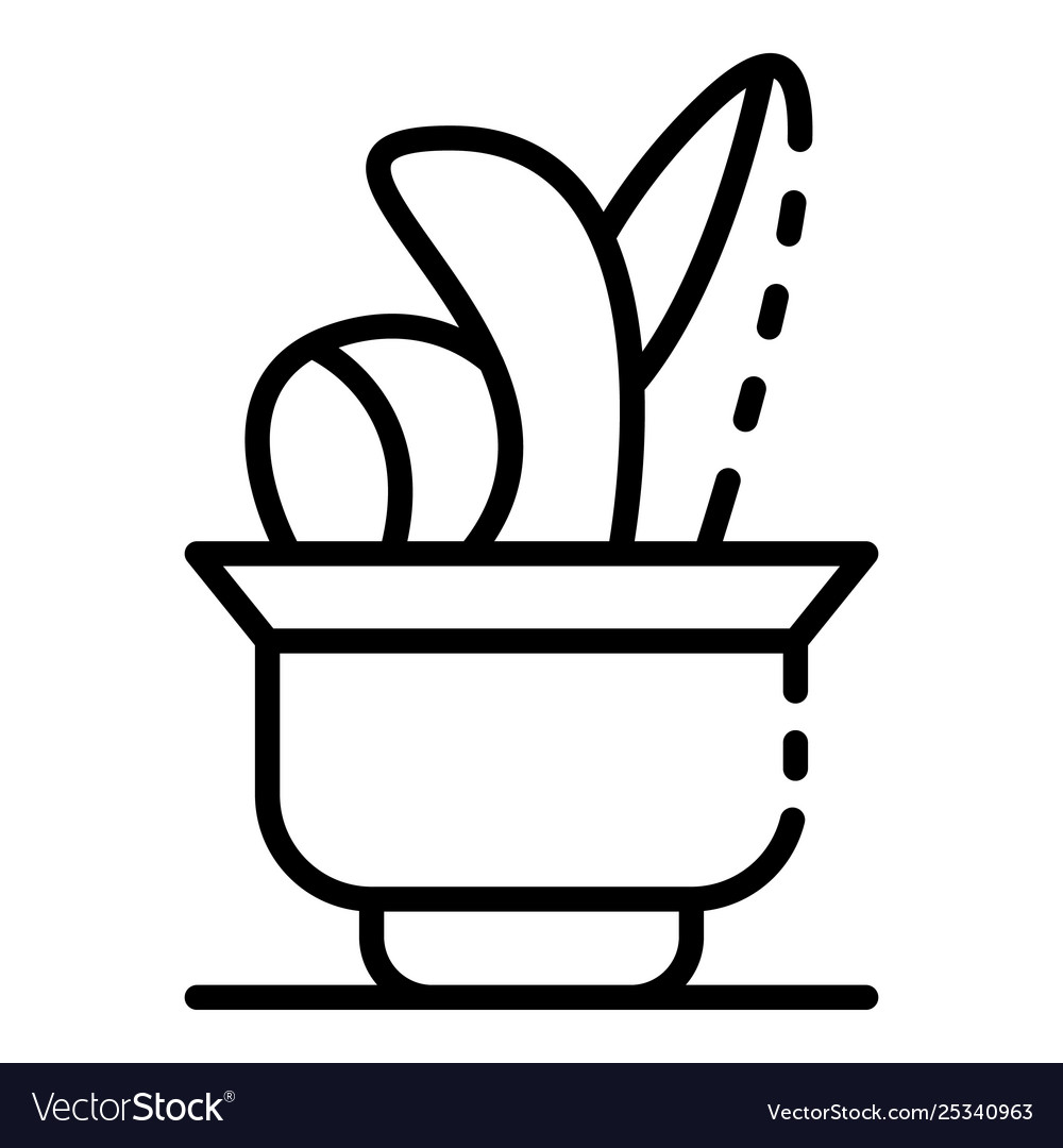 Botanical flower pot icon outline style vector image  sc 1 st  VectorStock & Botanical flower pot icon outline style Royalty Free Vector