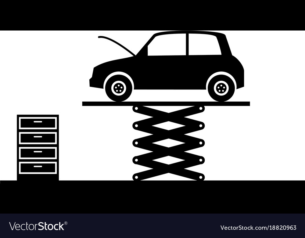 Car service garage vector image