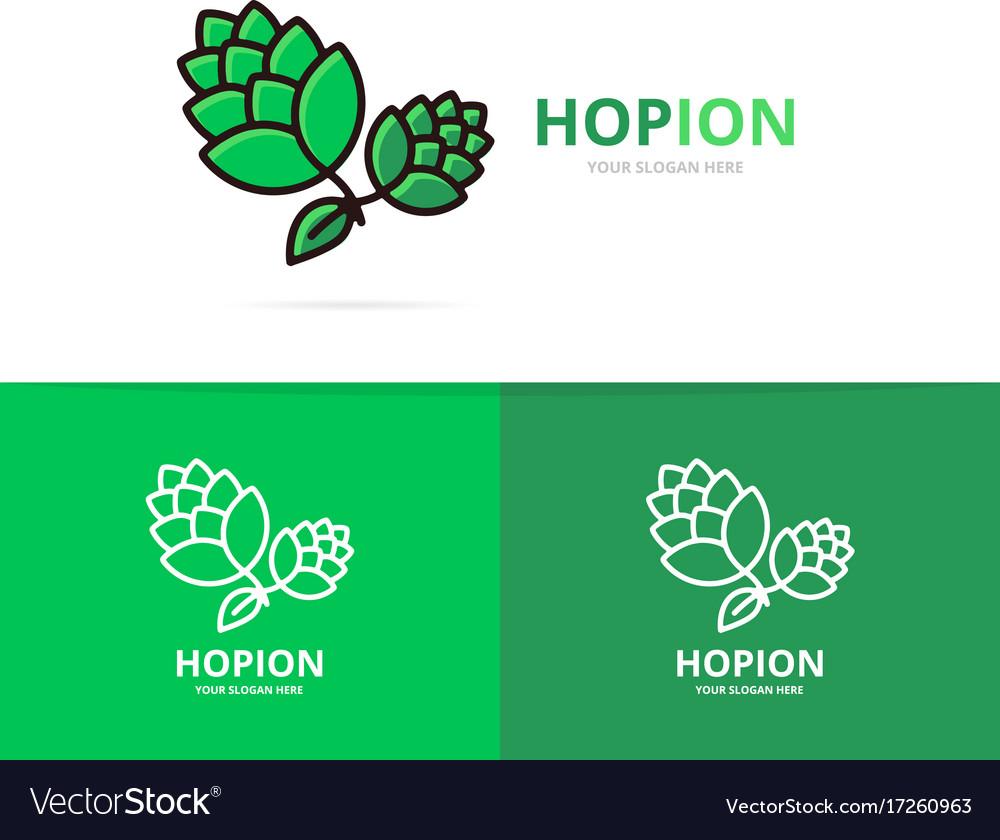 Hop logo design template beer and bar