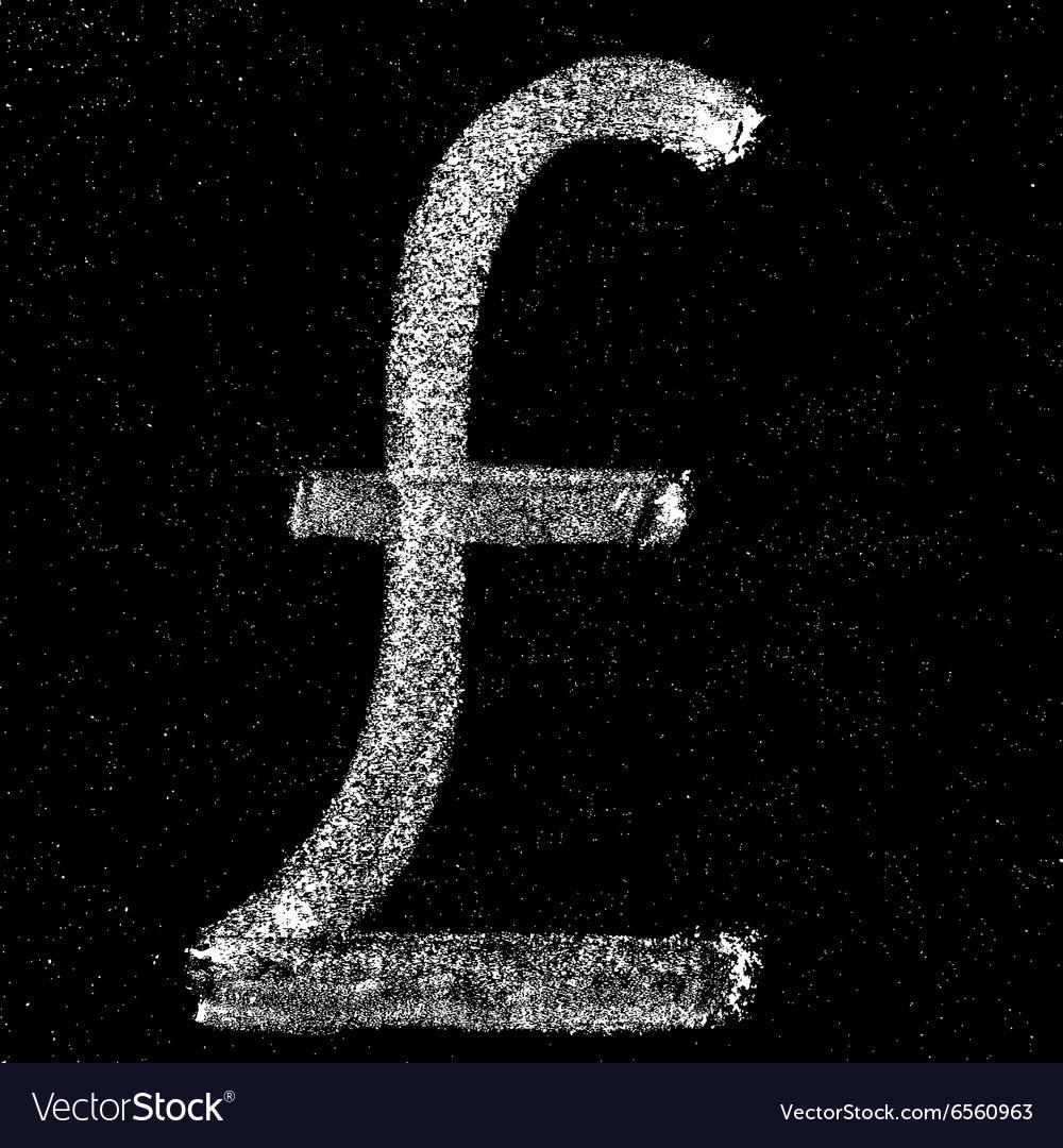 Pound sign on chalkboard