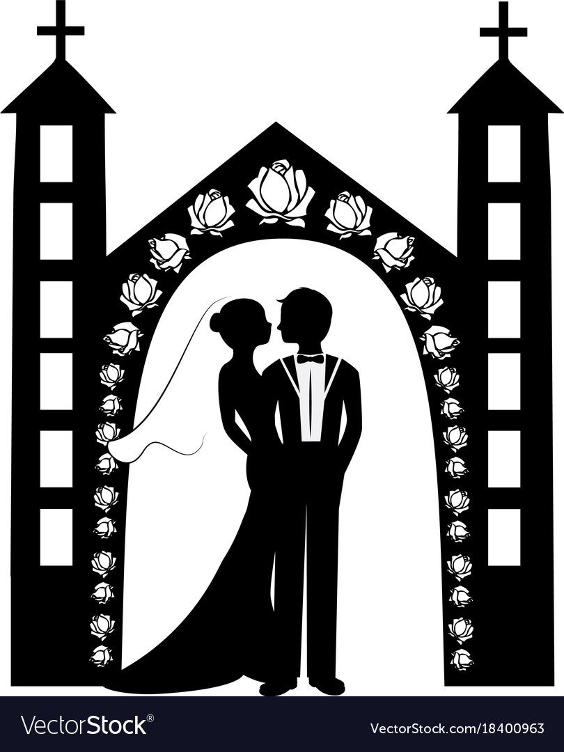 Wedding silhouette 8 royalty free vector image wedding silhouette 8 vector image junglespirit Gallery
