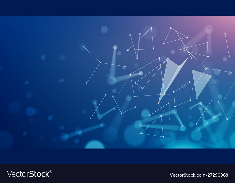Abstract low poly tech concept dark background
