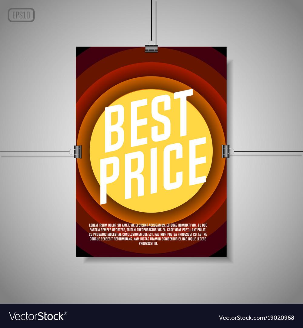 Best price background