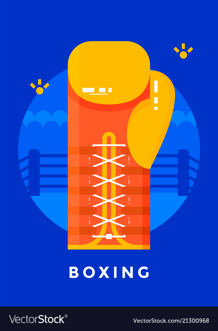 Boxing sport poster